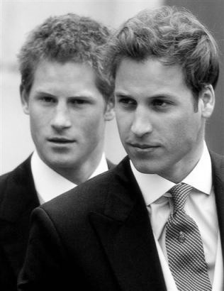 Prince Harry and Prince William, I'll take Harry, William is going a little bald these days, lol!