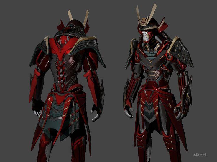 ArtStation - samurai armor concept 1, Shan Qiao