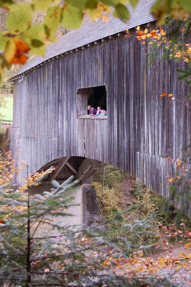 Gschwendtobelbrücke buitenzijde. Lingenau/Grossdorf Bregenzerwald