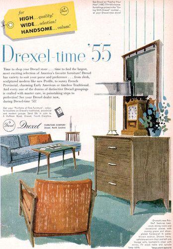John Van Koert Drexel Furniture Profile Mid Century Modern 1955 Magazine Ad  | EBay
