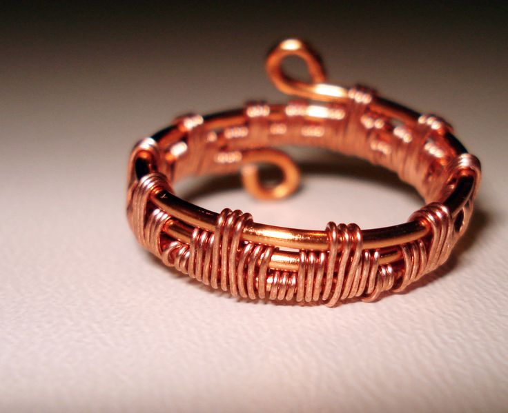 Copper Wire Wrapped Ring by IALINA