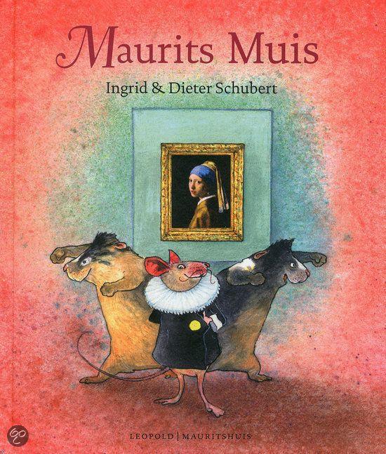 Maurits Muis - Ingrid & Dieter Schubert. Elke avond, zodra het stil is geworden in het museum, komt Maurits Muis tevoorschijn. Hij rekt zich uit, trekt zijn kraag netjes en strijkt zijn jasje glad. Hij is op weg naar zijn Meisje met de parel. Niets houdt hem weg van haar lieve glimlach: zelfs geen lekker eten en mooie bloemen. Maar waar is ze? Ze is weg!