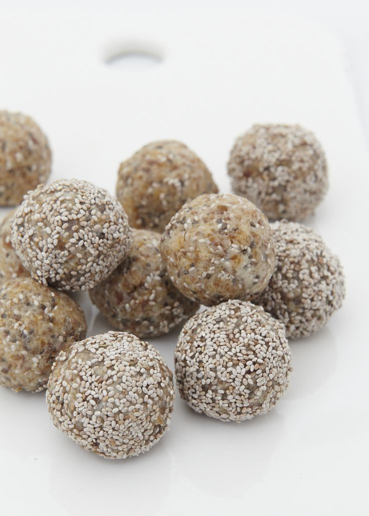 """""""These make the most delicious protein snack. I love having one after a big workout. They also keep really well in the fridge. Chia seeds are said to be a great source of slow releasing energy. In south America, where they originated from; when the Aztecs went to battle, they would take a pouch of chia seeds with them for energy. This didn't weigh them down like other food does."""" Tash x  Favorite 1"""