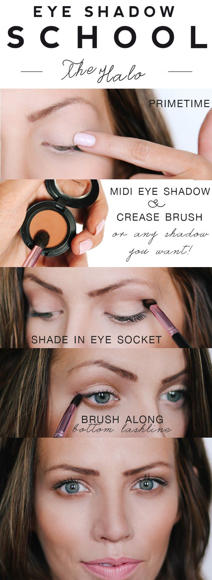 Eyeshadow School: The Halo -  I like this because it is so simple to do if you are in a hurry!!