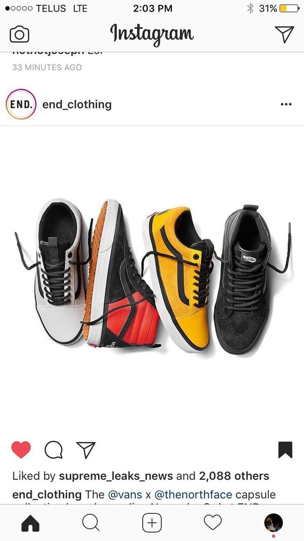 Vans x Tnf launching online on end clothing on November 3rd http://ift.tt/2lCalpO