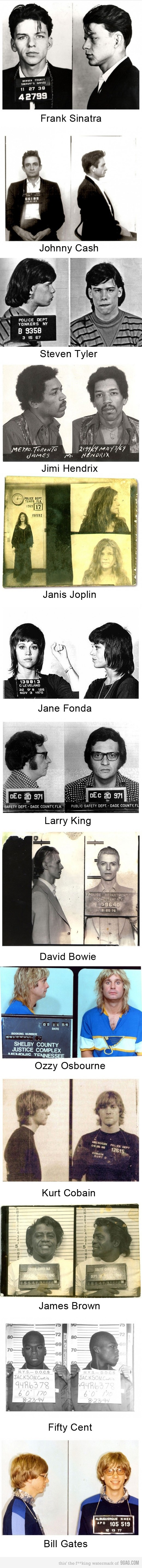 Famous people's prison photos - and the last one surprised me.