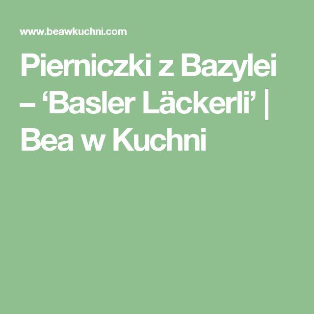 Pierniczki z Bazylei – 'Basler Läckerli' | Bea w Kuchni