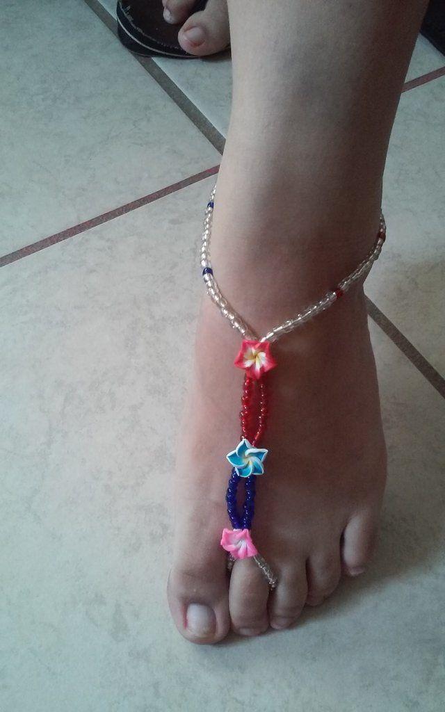 Flower Multicolor Anklet Beach Jewelry Foot Slave Bracelet Women Anklet