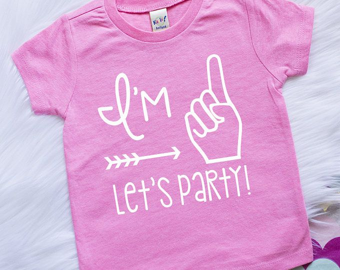 First birthday outfit girl - Girls First Birthday Shirt - 1st birthday girl outfit - I'm One Let's Party - 1st Birthday Shirt - Im One Shirt
