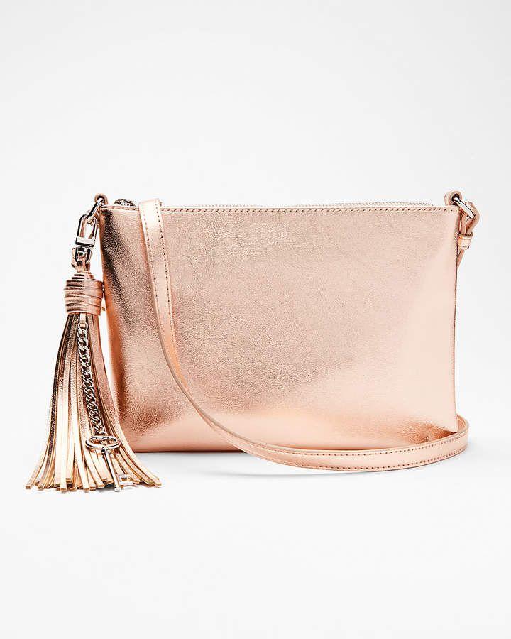 c9ae0a8193 Express Tassel Key Crossbody Bag rose gold handbag | EXPRESS ...