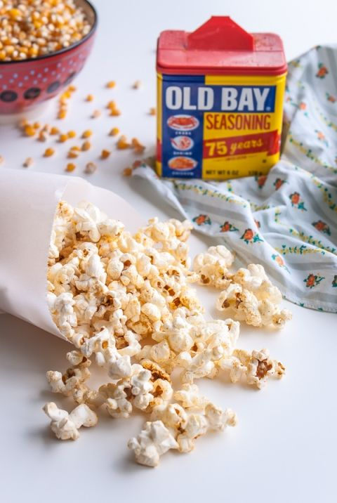 Old Bay Stove-Top Popcorn | @blogoverthyme