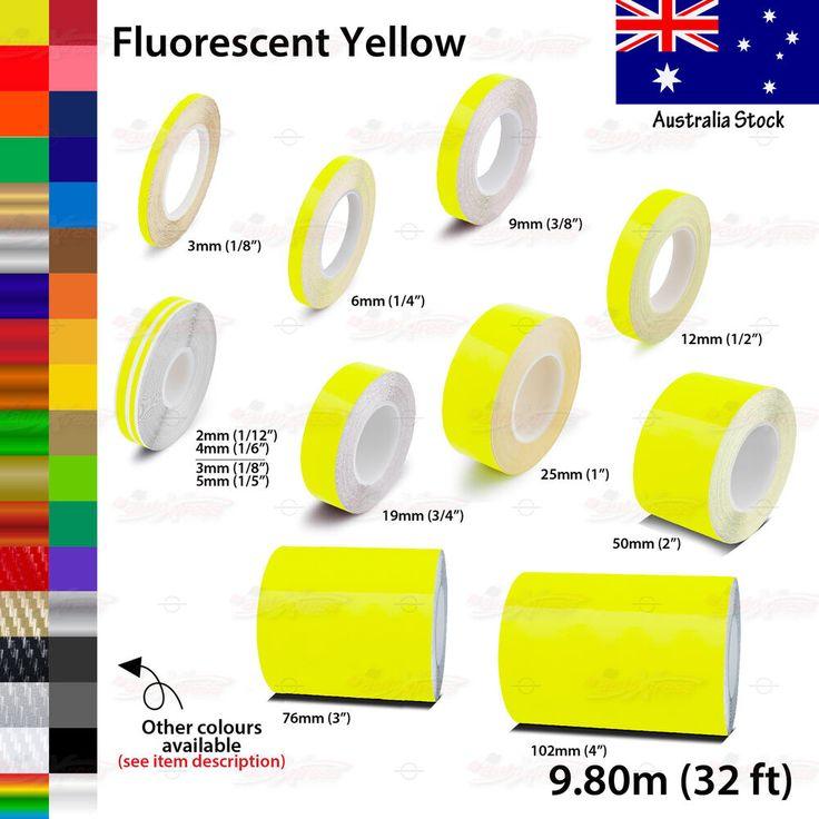 Bright yellow vinyl pinstriping pin stripe car motorcycle