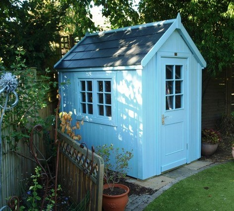 7x5 pottingshed with slate effect roof finished with for Garden shed 7x5