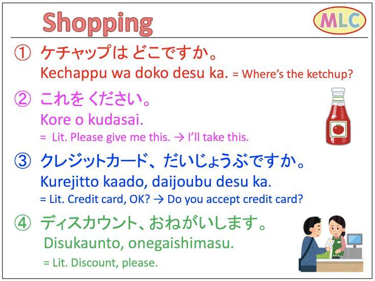 Survival Japanese Shopping