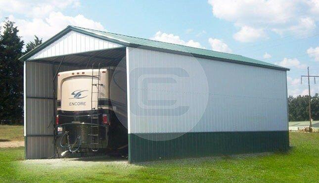 18x41 Vertical Style Rv Carport Steel Rv Cover For Sale Rv Cover Rv Carports Rv