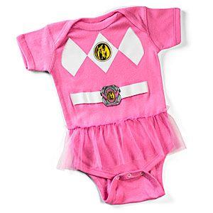 ThinkGeek :: Pink Power Ranger Bodysuit, for when I have a little girl.