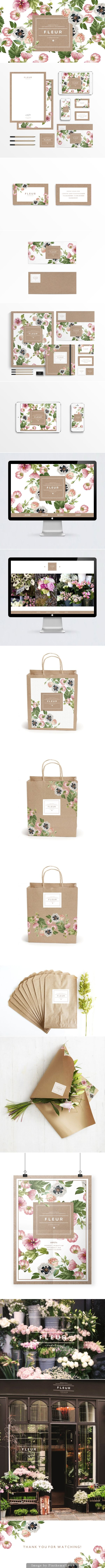 How beautiful is Fleur identity packaging branding curated by Packaging Diva PD