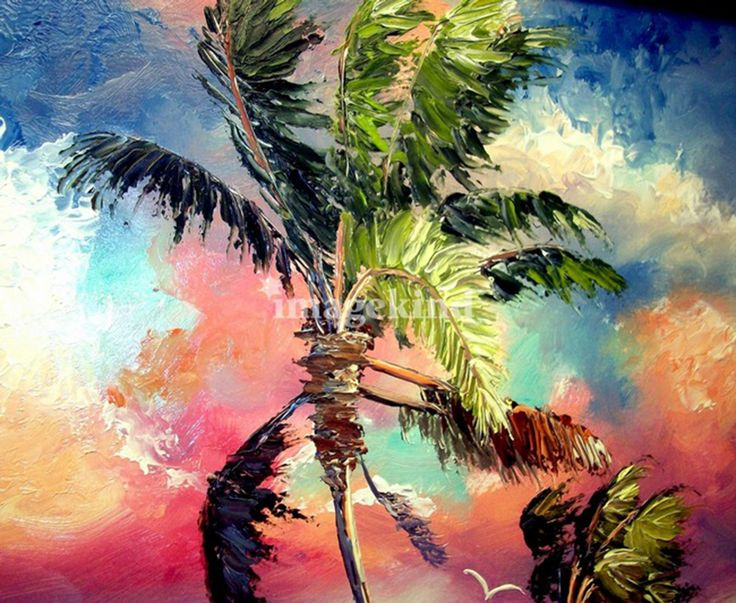 17 best images about tropical paintings on pinterest for Painting palm trees