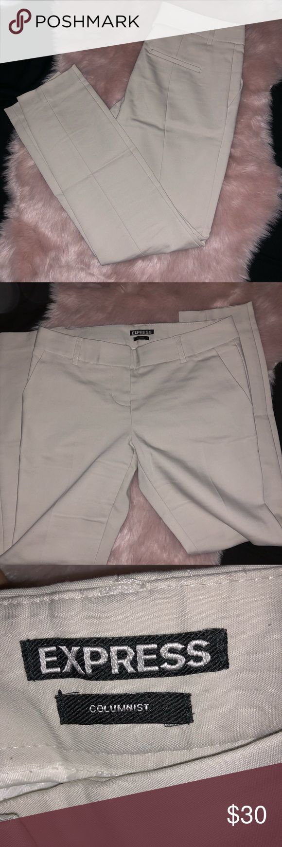 Express Columnist Pants Beige dress pants. Worn couple times. In great condition! Size 0R Express Pants