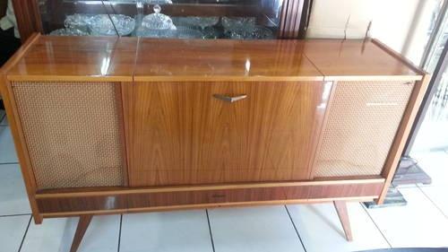 60 S Loewe Opta Stereo Hi Fi Console Cabinet 32 Quot H X 56 Quot W X