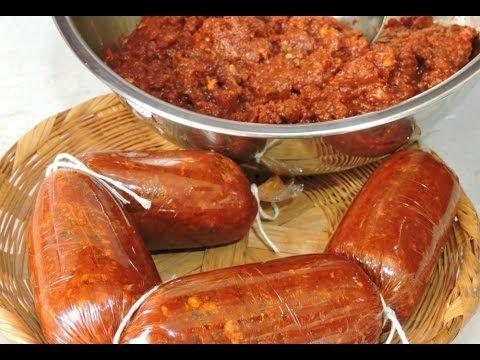 Chorizo casero.- LuzMa CyR. https://es.pinterest.com/angustiasrobles/a-cocinarrrrr-/