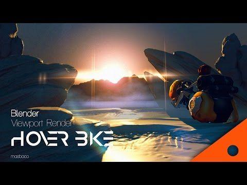 blender 2.78 real time view port GLSL render : hover bike dusk scene - YouTube