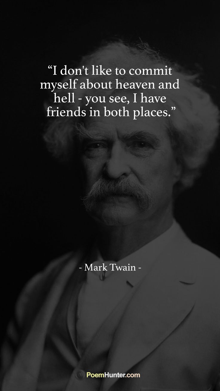 Would you like to read more by Mark Twain? Visit us now and enjoy the reading. https://www.poemhunter.com/mark-twain/ #MarkTwain #poem #poet