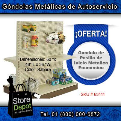 Para tiendas de #autoservicio, tenemos Góndolas Metálicas a precio #económico y en varias dimensiones.