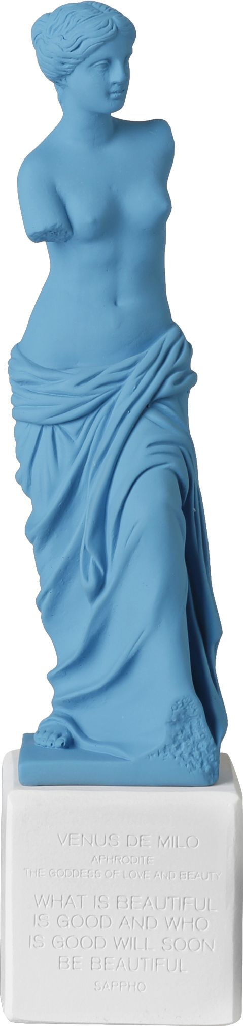 Venus de Milo. Statue. Material 100% Ceramine. Color: Light Blue.