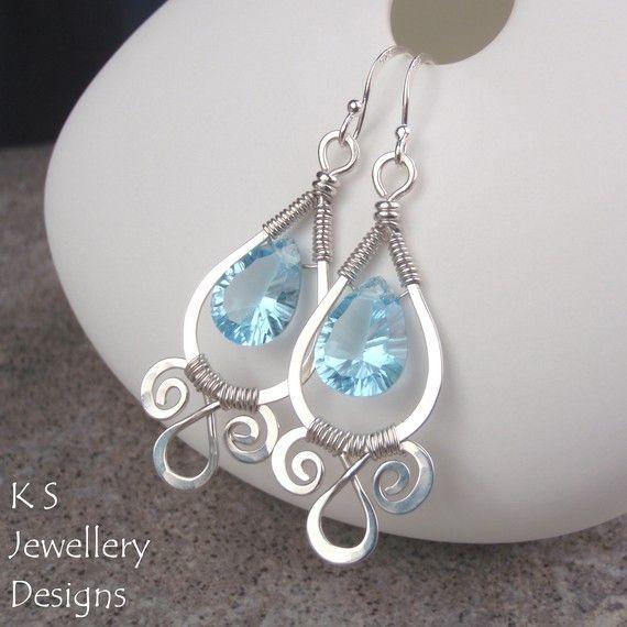 Wire Jewelry Tutorial  SPIRAL LOOP FRAMES Earrings &