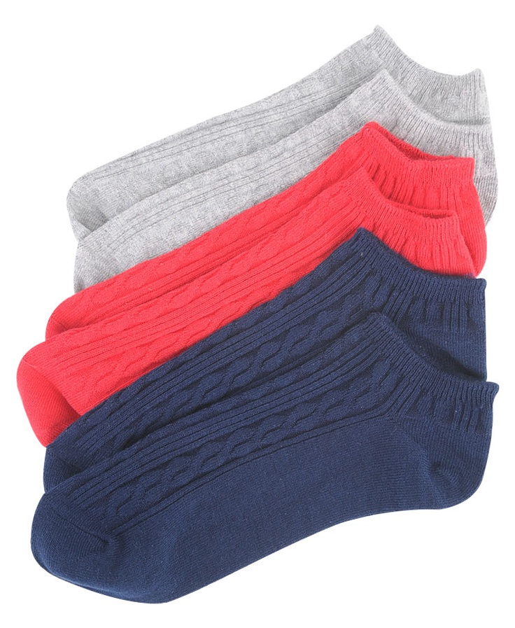 Pack of 3   Ankle Socks  $3.50