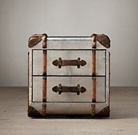 Richards' Metal Cube with Drawers | Side & Item Tables | Restoration Hardware