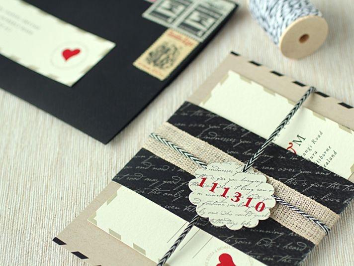 Love Letter Wedding Invitations vintage inspired wedding stationery 1