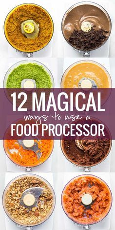 12 Magical Ways To Use a Food Processor - a few recommendations for specific food processors to fit your cooking level and your budget. – More at http://www.GlobeTransformer.org