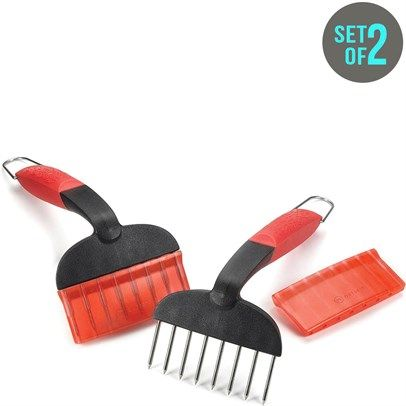 br/bFeatures:/bbr/ulliMeat Shredders/liliBlack Red/liliSet of 2/liliCooking Must Have!/liliOrders are dispatched directly to you from the USA/li/ulbMeasurements: /b19.1 cm handle, 3.8 cm teethbr /br /a href='http://c2.mysalec.com/sizechart/Size_Chart_CM_to_Inches_updated.pdf' target='_blank' class='textLinkTopBottom'Size Guide Conversion Chart/ai/hrOutset holds the innovation torch in defining and designing accessories for the ultimate grilling and entertaining experience. Outset delivers…