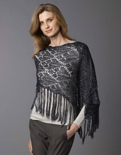 Book extra 1 Autumn / Winter   156: Woman Shawl   Anthracite grey