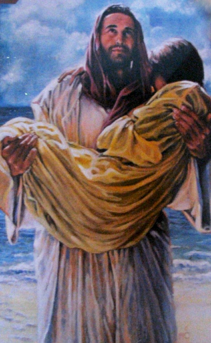 Jesus carries us when we think we're not moving at all ...