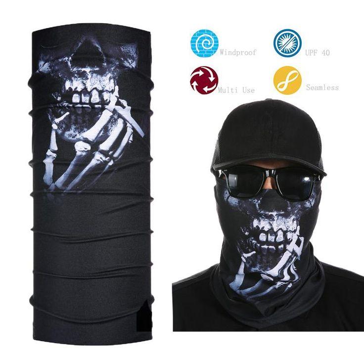 Cool Skull Face Mask Bandana Multifunctional Seamless Face Shield Neck Gaiter