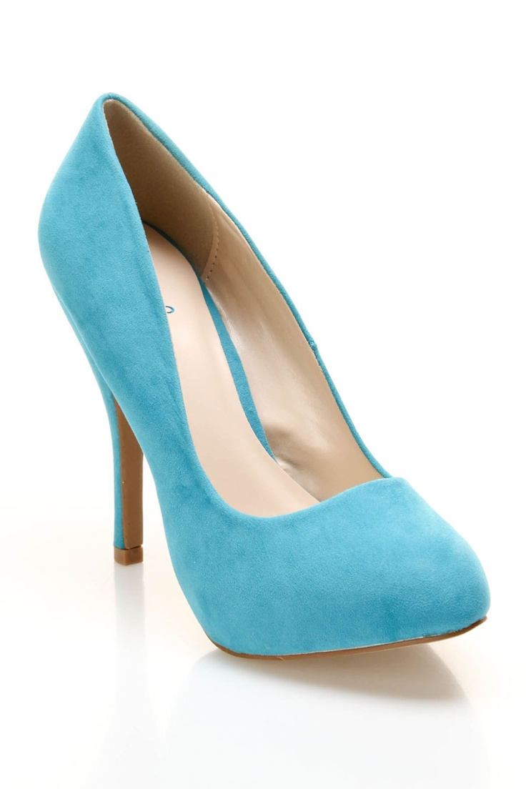 Wish I had these for today's outfit!  qupid tizzy 02 pumps in turquoise