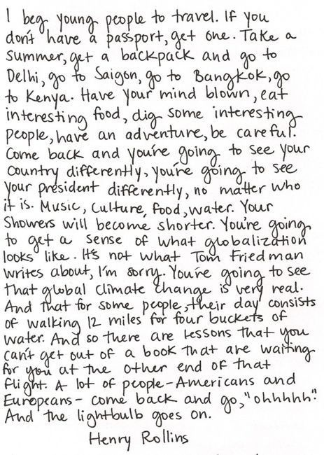 """One of my favorite quotes: """"I beg young people to travel..."""" Repinned by www.apassionandapassport.com"""