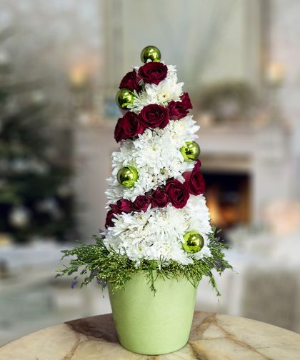 Floral Holiday Tree