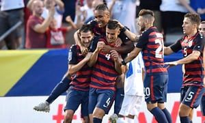 USA runs away 3-0 winners in the first-ever matchup between the US and Nicaragua to send the US to the top of the Gold Cup qualifying group
