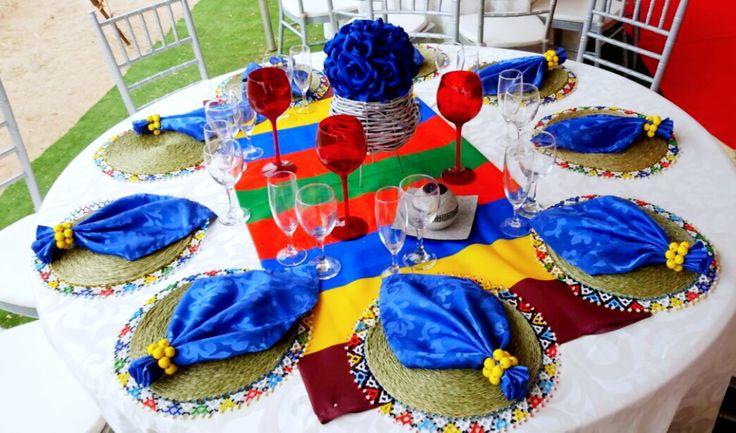 Ndebele traditional decor @shongaevents
