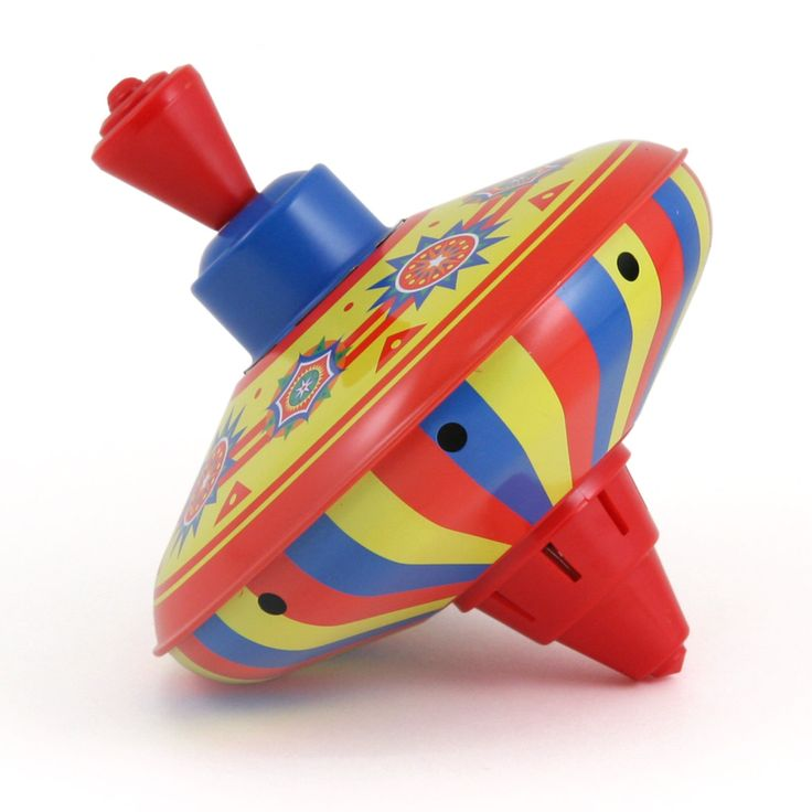 Tin Metal Multi-Colored Top - Old Fashioned Children's Toys for children 3+