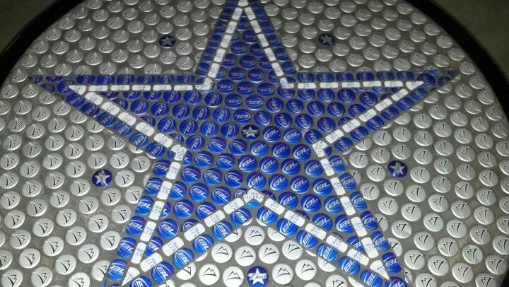 Dallas Cowboys bottle cap table