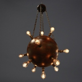 Contact Mine Chandelier This Custom Light Fixture Is Ready To Go Off At Any  Given Moment