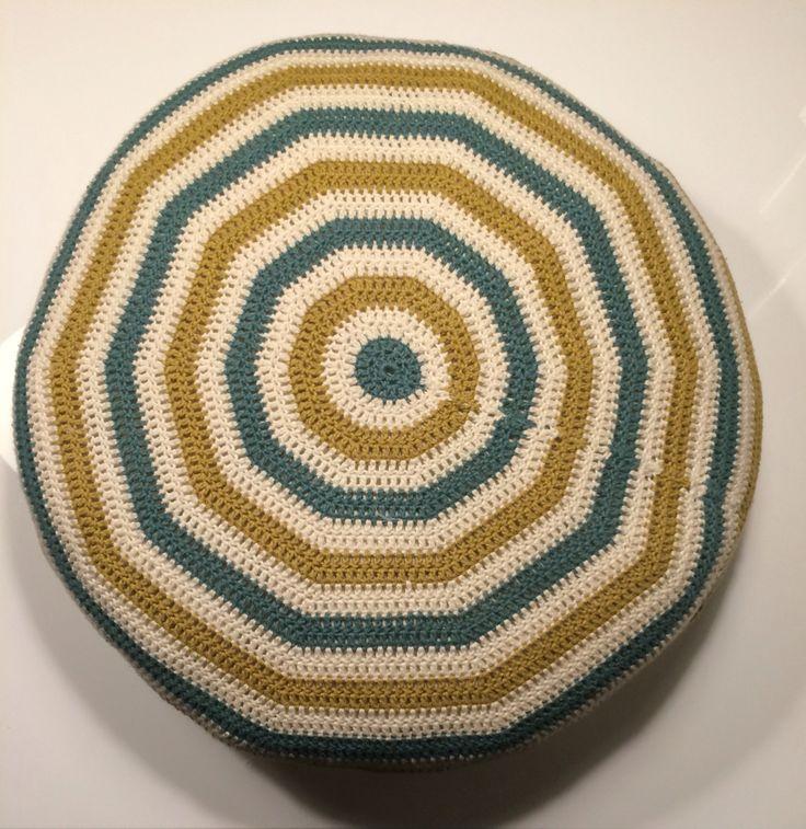 Pude hæklet i stangmasker #crochet #hækling #pillow #pude #DIY
