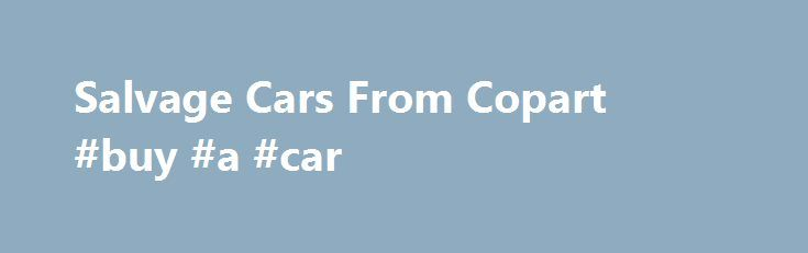 Salvage Cars From Copart #buy #a #car http://netherlands.remmont.com/salvage-cars-from-copart-buy-a-car/  #salvage auto auction # SalvageAutosAuction.com SalvageAutosAuction.com is a salvage cars and SUVs auction website that allows you to buy vehicles for sale at Copart Auto Auction, no dealer license required. You can find rebuildables, totals loss, recovery theft and bank repossessed vehicles. We have more than 50000 vehicles for sale weekly and the inventory is updated daily. You can…
