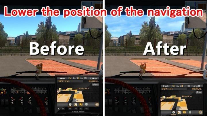 Ets2 Lower The Position Of The Navigation 1 34 X Download Audi Tt Sport Navigation Benz A Class