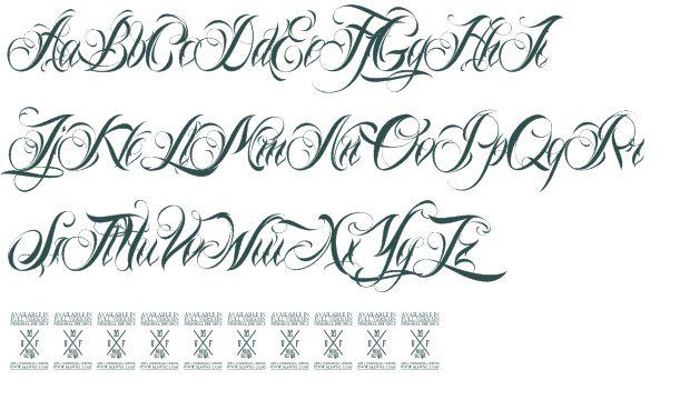 Tattoo Lettering | Nina Script font download free (truetype)